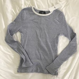 Urban Outfitters Long Sleeve Waffle Top NWT